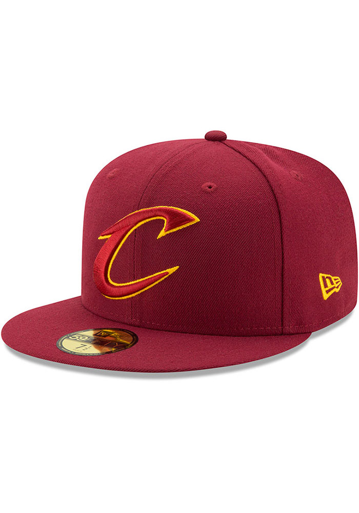 5b5295c5208 Cleveland Cavaliers New Era Maroon 59FIFTY Fitted Hat
