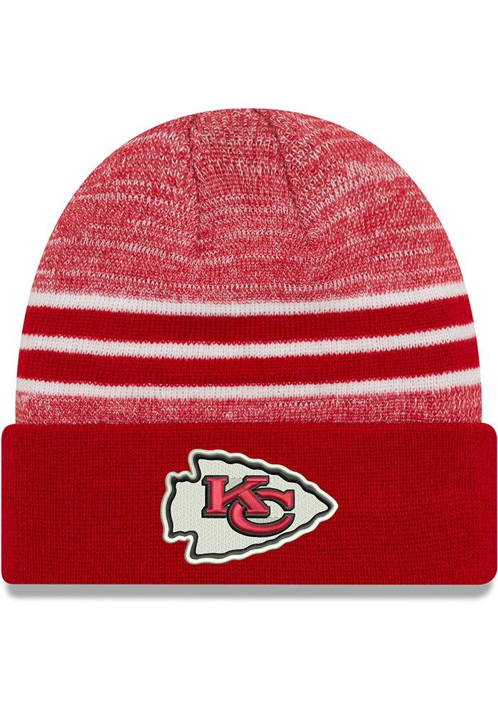 New Era Kansas City Chiefs Red Heather Knit Hat