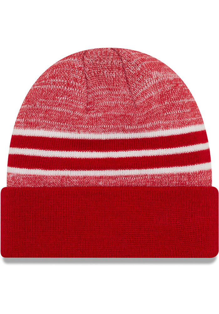 New Era Kansas City Chiefs Red Heather Mens Knit Hat - Image 2