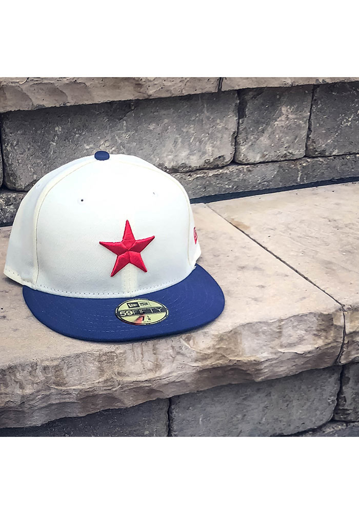 Detroit Stars Mens White 2017 Turn Back the Clock 59FIFTY Fitted Hat - Image 2