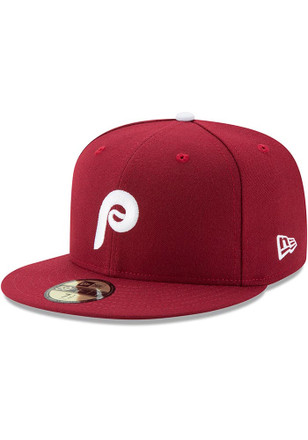Philadelphia Phillies New Era Mens Maroon 1982 AC 59FIFTY Fitted Hat