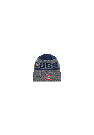 New Era Chicago Cubs Black Layered Chill Knit Hat