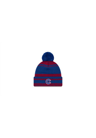 New Era Chicago Cubs Mens Blue Glacial Pom Knit Hat