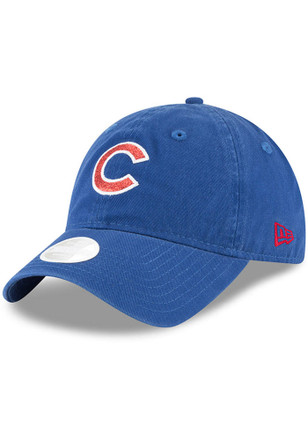 New Era Chicago Cubs Womens Blue Team Glisten Adjustable Hat