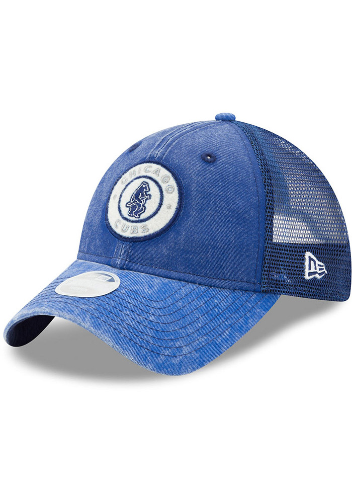 New Era Chicago Cubs Blue Perfect Patch Womens Adjustable Hat - Image 1