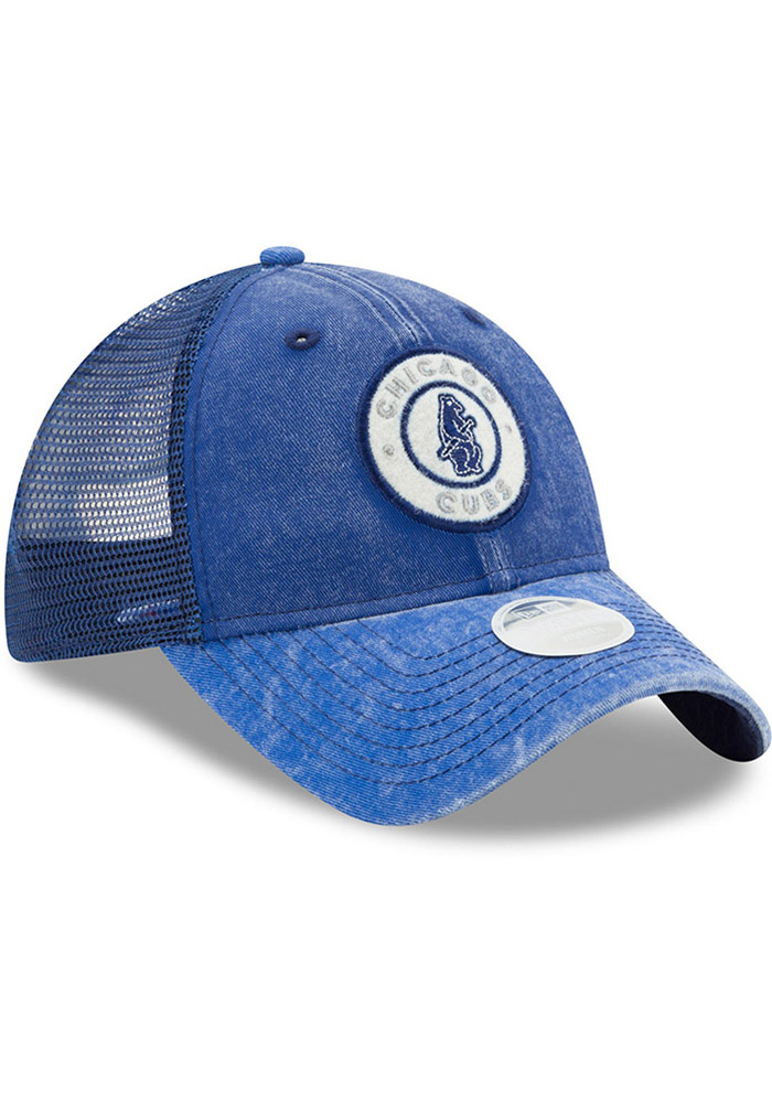 New Era Chicago Cubs Blue Perfect Patch Womens Adjustable Hat - Image 2