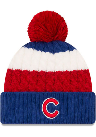 New Era Chicago Cubs Womens Blue Layered Up Knit Hat