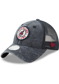 new styles 284cb 148b2 New Era Cleveland Indians Womens Navy Blue Perfect Patch Adjustable Hat