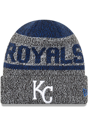 New Era Kansas City Royals Black Layered Chill Knit Hat