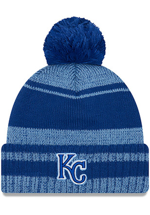 New Era Kansas City Royals Navy Blue Glacial Pom Knit Hat