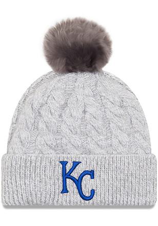 New Era Kansas City Royals Grey Toasty Pom Knit Hat