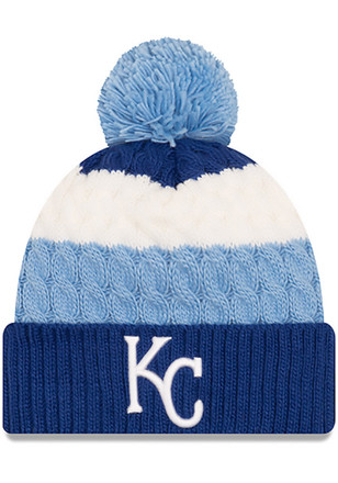 New Era Kansas City Royals Blue Layered Up Kids Knit Hat