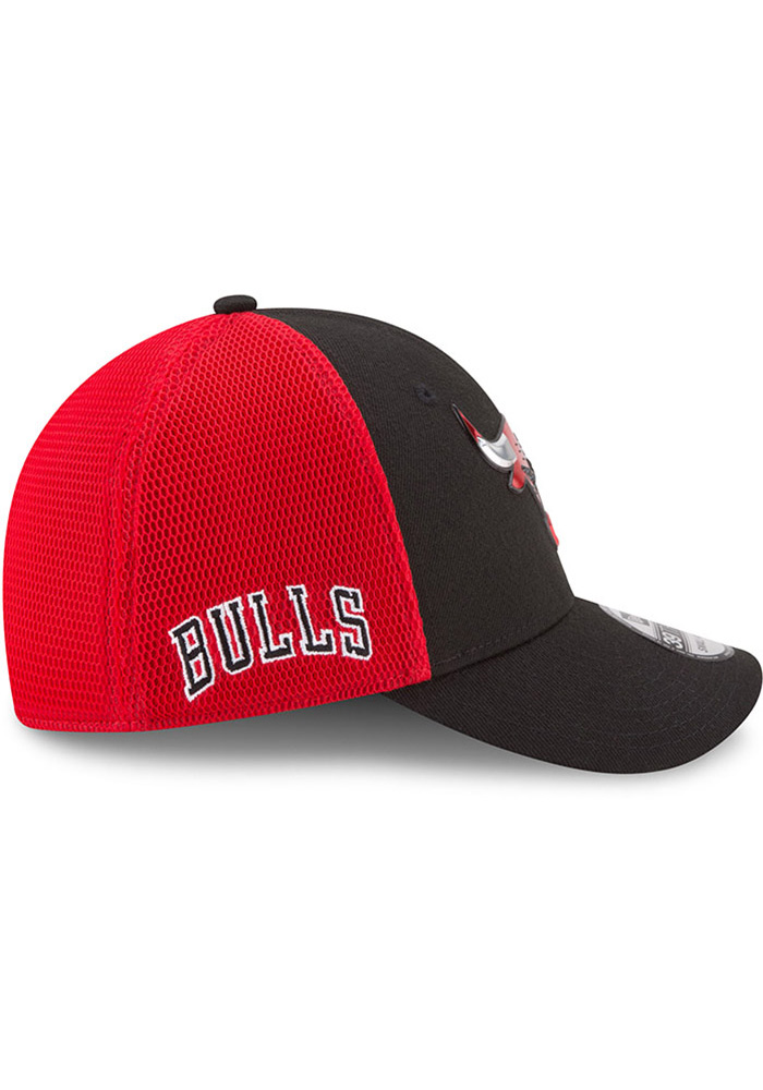 New Era Chicago Bulls Mens Black NBA17 On Court Flex Hat - Image 6