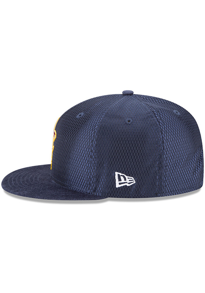 New Era Cleveland Cavaliers Navy Blue NBA17 On Court Reverse Mens Snapback Hat - Image 4