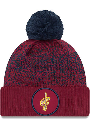 New Era Cleveland Cavaliers Mens Maroon NBA17 On Court Knit Hat