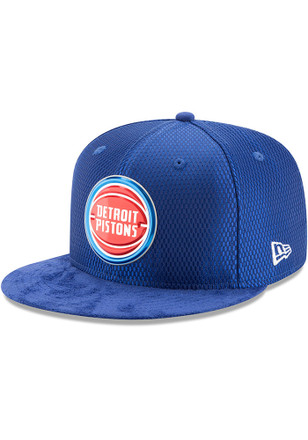 Detroit Pistons New Era Mens Blue NBA17 On Court Fitted Hat
