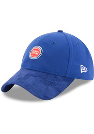 Detroit Pistons New Era NBA17 On Court Adjustable Hat - Blue