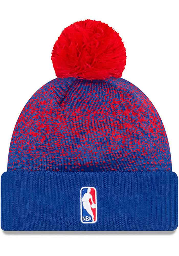 3208ad8cc74c51 ... low price new era detroit pistons blue nba17 on court mens knit hat  efb2f 66199
