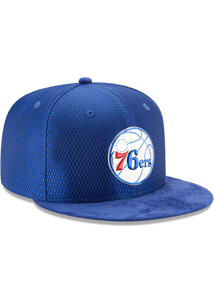 New Era Philadelphia 76ers Mens Blue NBA17 On Court Fitted Hat - Image 2