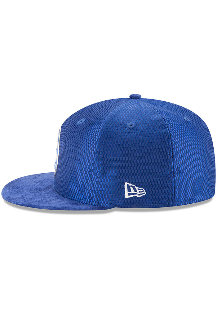 New Era Philadelphia 76ers Mens Blue NBA17 On Court Fitted Hat - Image 4