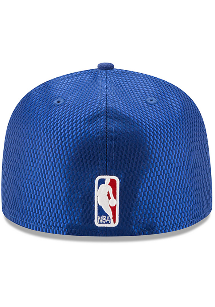 New Era Philadelphia 76ers Mens Blue NBA17 On Court Fitted Hat - Image 5