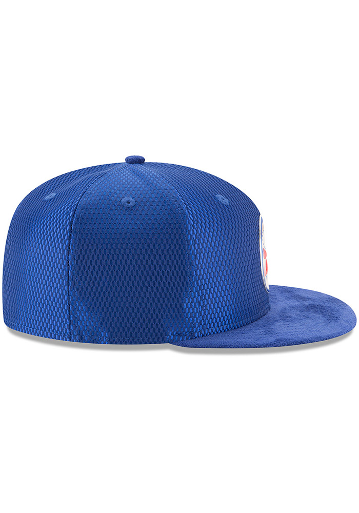 New Era Philadelphia 76ers Mens Blue NBA17 On Court Fitted Hat - Image 6