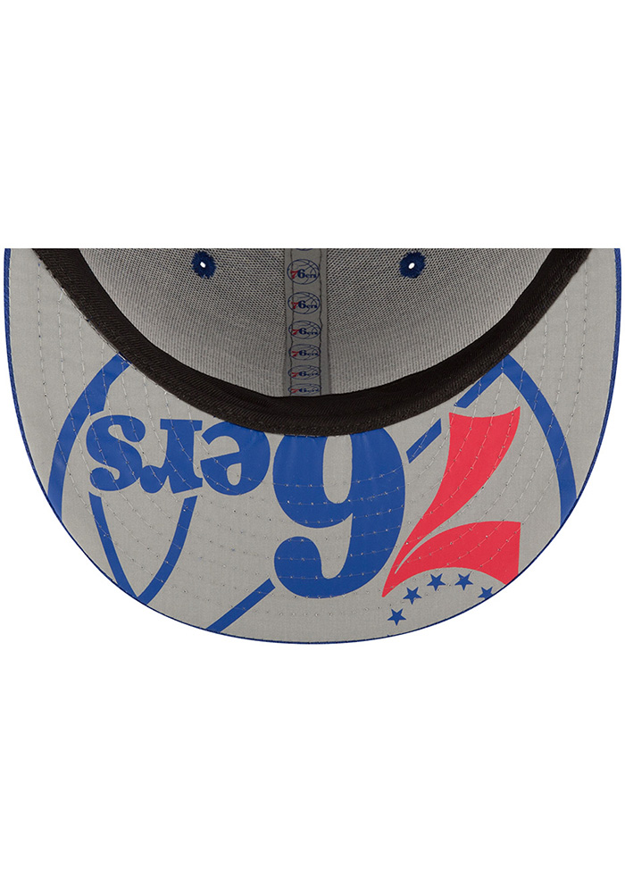 New Era Philadelphia 76ers Mens Blue NBA17 On Court Fitted Hat - Image 7