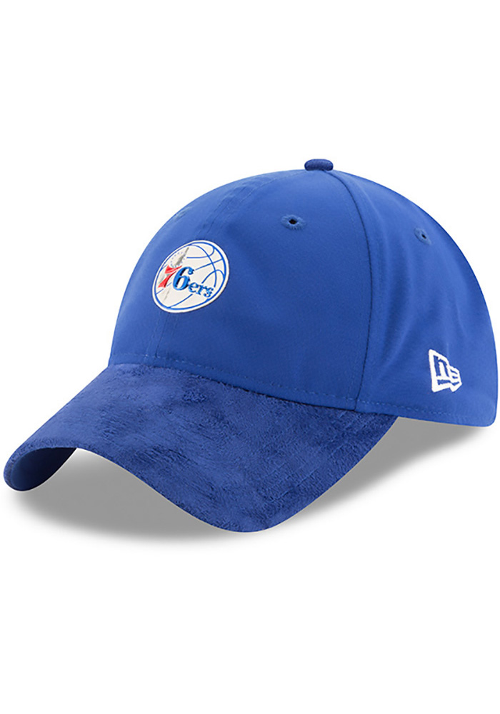 New Era Philadelphia 76ers Mens Blue NBA17 On Court Adjustable Hat - Image 1
