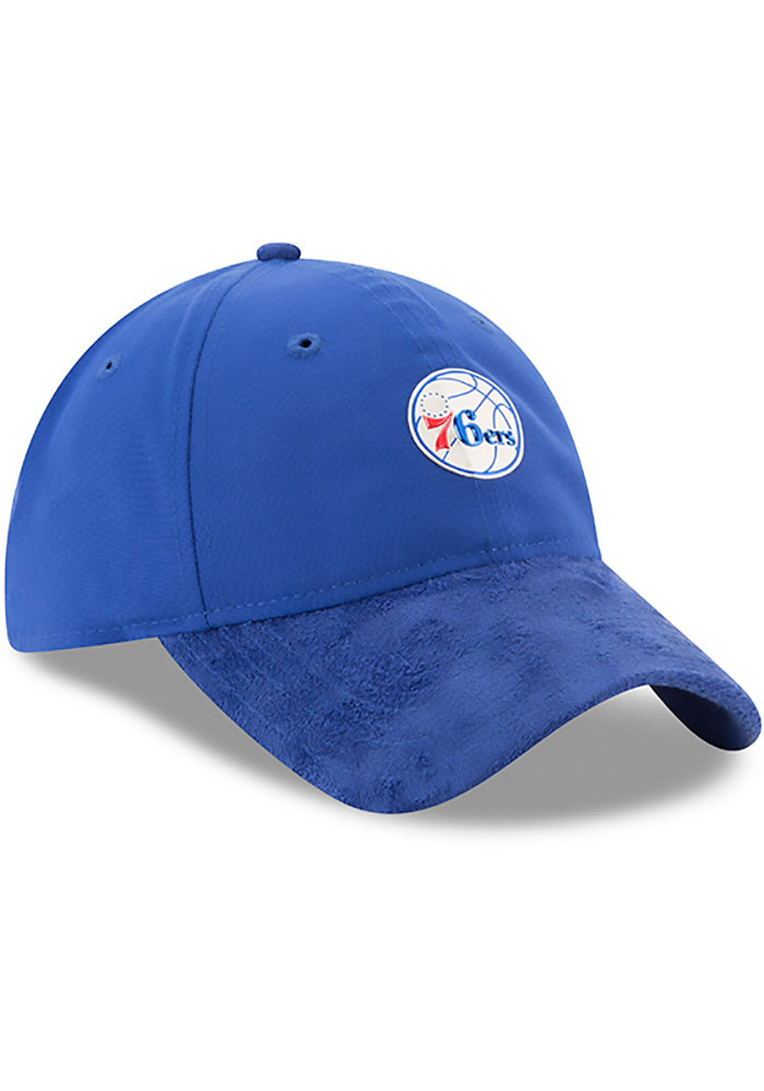 New Era Philadelphia 76ers Mens Blue NBA17 On Court Adjustable Hat - Image 2