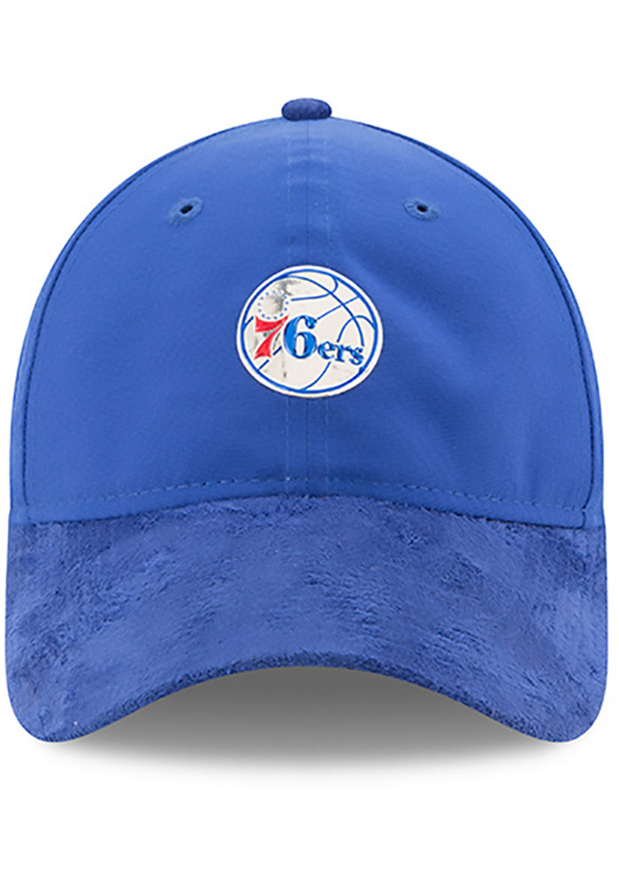 New Era Philadelphia 76ers Mens Blue NBA17 On Court Adjustable Hat - Image 3