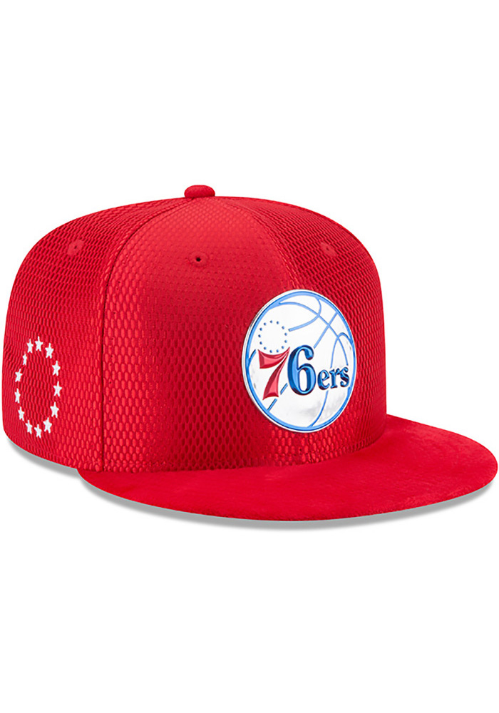 48c92a6a61a New Era Philadelphia 76ers Red NBA17 On Court Reverse Snapback Hat