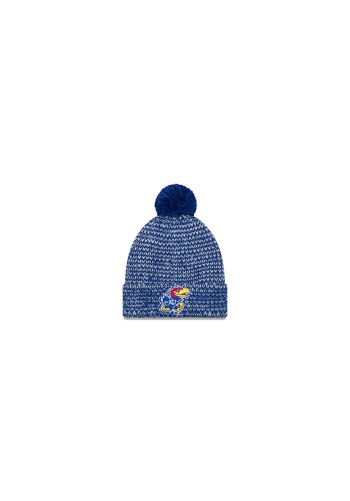 New Era Kansas Jayhawks Blue Frosty Cuff Womens Knit Hat - Image 1