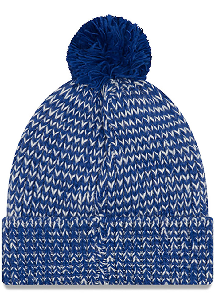 New Era Kansas Jayhawks Blue Frosty Cuff Womens Knit Hat - Image 2