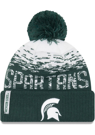 New Era Michigan State Spartans Green NE16 Sport Knit Flect Youth Knit Hat bd7a56a53860