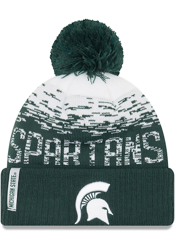 official photos 72114 c8e29 ... best price new era michigan state spartans green ne16 sport knit flect  mens knit hat image