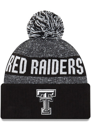 New Era Texas Tech Red Raiders Black NE16 Sport Knit Knit Hat