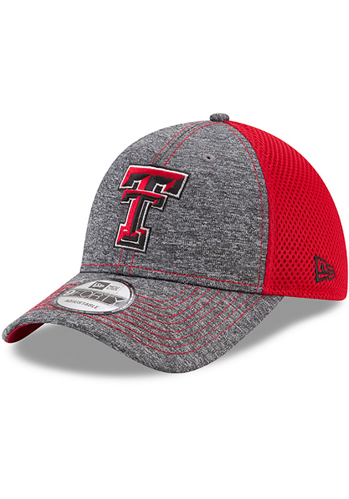 detailed pictures 05632 53b36 ... australia new era texas tech red raiders grey shadow turn adjustable hat  9147a cfeec