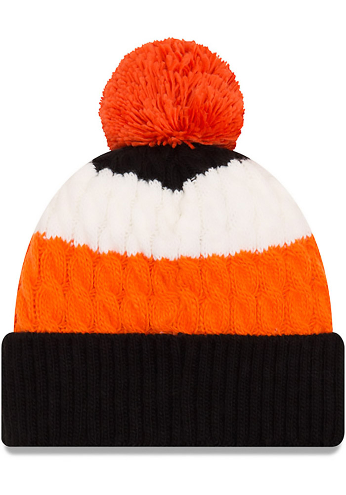 New Era Cincinnati Bengals Black Layered Up Womens Knit Hat - Image 2