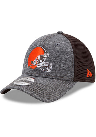 New Era Cleveland Browns Mens Grey Shadow Turn Adjustable Hat