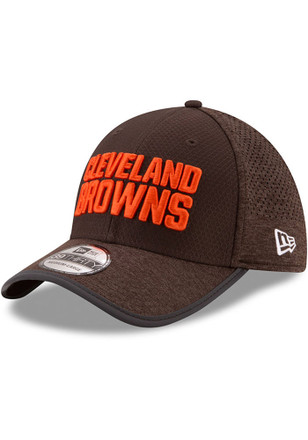 New Era Cleveland Browns Mens Brown 2017 Official Training Flex Hat
