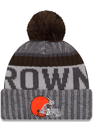 New Era Cleveland Browns Grey 2017 Official Sport Knit Hat 9c2ec8ab9bb6