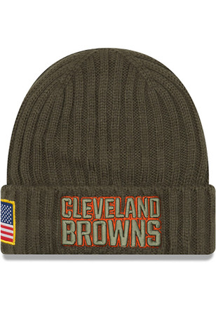 New Era Cleveland Browns Mens Green 2017 STS Knit Hat