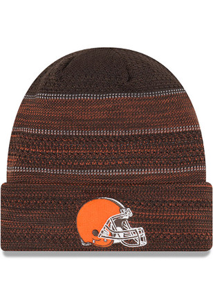 New Era Cleveland Browns Mens Brown 2017 Official TD Knit Hat