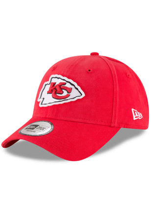 Kansas City Chiefs New Era Mens Red NE Core Fit Fitted Hat
