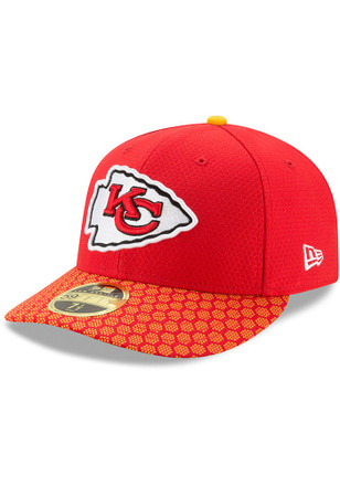 Kansas City Chiefs New Era Mens Red 2017 Official Sideline Low Profile 59FIFTY Fitted Hat