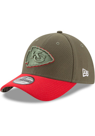 New Era Kansas City Chiefs Mens Green 2017 STS Flex Hat