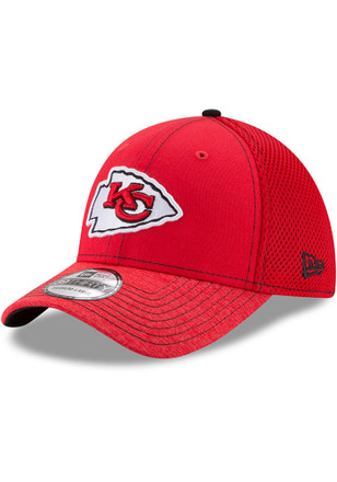 New Era Kansas City Chiefs Mens Red Shadow Burst Flex Hat