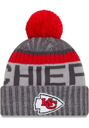 New Era Kansas City Chiefs Mens Grey 2017 Sport Knit Hat