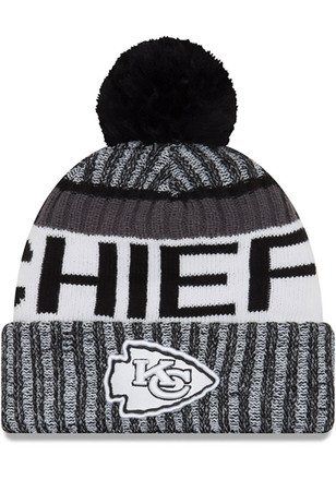 New Era Kansas City Chiefs Mens Black 2017 Sport Knit Hat