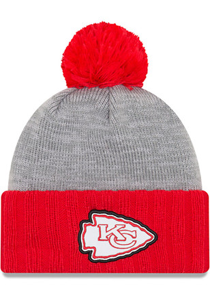 New Era Kansas City Chiefs Mens Red Flected Frost Knit Hat